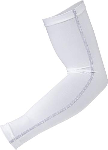 おたふく手袋 ボディータフネス 冷感 パワーストレッチ アームカバー Lサイズ JW-618 ホワイト
