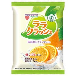 マンナンライフ 蒟蒻畑 ララクラッシュ オレンジ味 【特定保健用食品 特保】 24g×8個×12袋入×(2ケース)