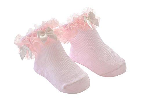 DinDonオリジナル ベビー靴下 チェッキーズ 0-12ヶ月 レッド #5112