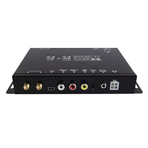 地デジチューナー フルセグチューナー 4x4 4×4 車載 HDMI 地デジ フルセグ ワンセグ フィルムアンテナ 自動切替 FT44F