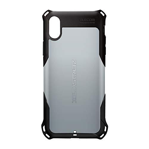 エレコム iPhone XR ケース 衝撃吸収 ZEROSHOCK スタンダード  【落下時の衝撃から本体を守る】 シルバー PM-A18CZEROSV