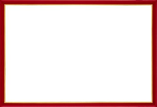 木製パズルフレーム ウッディーパネルエクセレント ゴールドライン シャインレッド (49x72cm)
