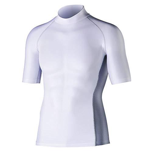 おたふく手袋 ボディータフネス 冷感・消臭 パワーストレッチ 半袖ハイネックシャツ JW-624 ホワイト L