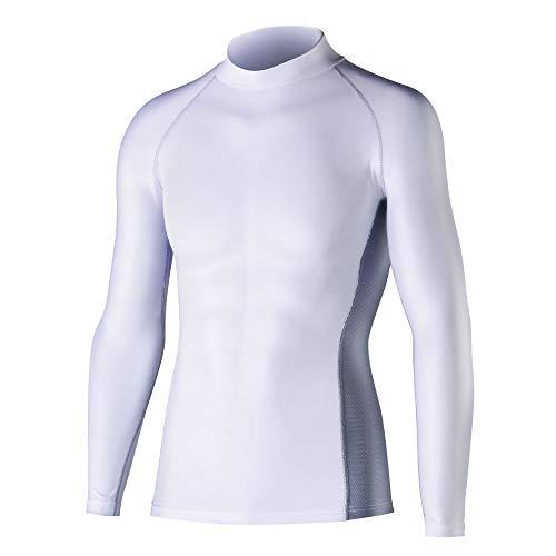 おたふく手袋 ボディータフネス 冷感・消臭 パワーストレッチ 長袖ハイネックシャツ JW-625 ホワイト LL