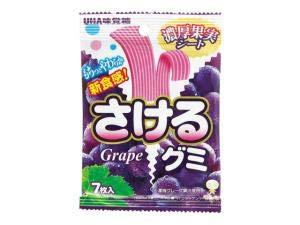 UHA味覚糖 さけるグミグレープ 7枚 単品