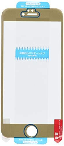 サンクレスト iDress iPhone6 Plus 5.5inch対応 フルラウンドフィルム 衝撃自己吸収 さらさら防指紋 ゴールド iP6P-F AB