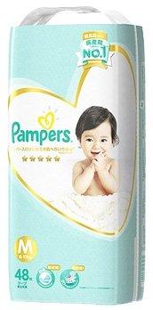 《ケース》 P&G パンパース はじめての肌へのいちばん テープ スーパージャンボ Mサイズ 6~11kg 男女共用 (48枚)×4個 【P&G】