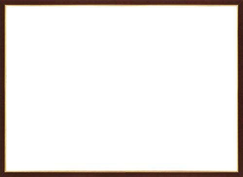パズルフレーム ジグソーパネル 木製ゴールドライン ブラウン(36x49cm)