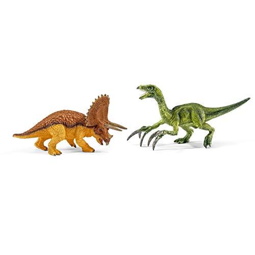 シュライヒ 恐竜 トリケラトプスとテリジノサウルス (小) フィギュア 42217