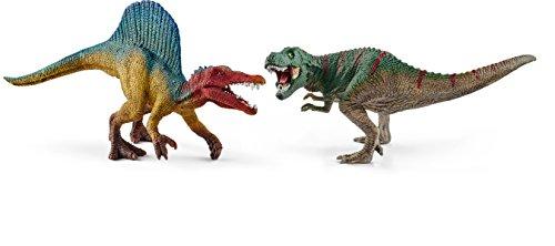 シュライヒ 恐竜 スピノサウルスとティラノサウルス・レックス (小) フィギュア 41455