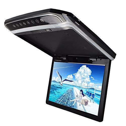 LOSKA 15.6インチ 大画面フリップダウンモニター 15.6インチデジタルフリップダウンモニター LEDバックライト液晶HDMI USB MicroSD対応超薄型 LEDバックライト液晶 高画質1920*1080 FM対応不可 大画面モニター