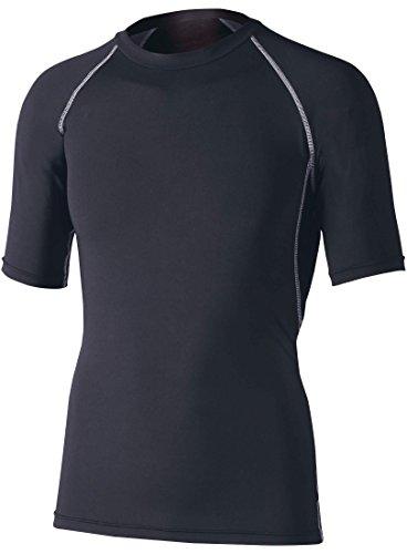 おたふく手袋 ボディータフネス 冷感・消臭 パワーストレッチ 半袖クルーネックシャツ JW-628 ブラック M