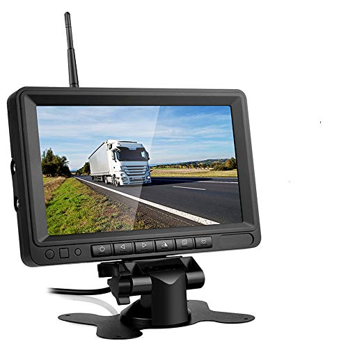 ワイヤレスバックモニター デジタルカメラ バックカメラ 電磁波干渉防止 ガイドライン表示あり IP68防水 暗視機能