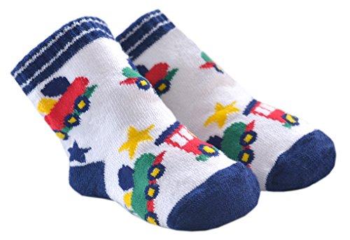 DinDonオリジナル ベビー靴下 TF トレインキッズ 0-12ヶ月 グレー #5511