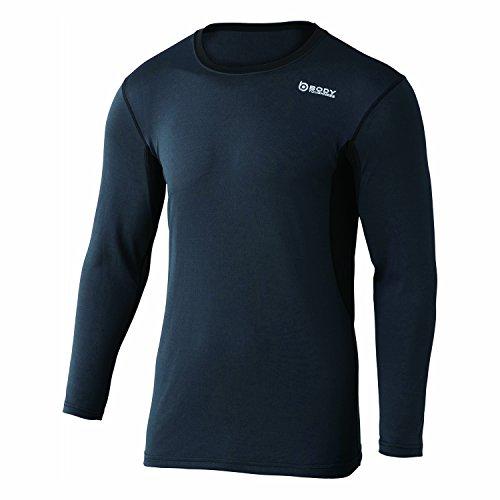 おたふく手袋 ボディータフネス デュアルメッシュ ロングスリーブ クルーネックシャツ JW-602 39.グレー×ブラック S