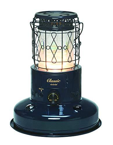 トヨトミ 対流型石油ストーブ CL-250-A レインボータイプ 7色の光が浮かび上がるガラス円筒 レトロ石油ストーブ 景品のアルカリ乾電池単2(4本)付き 「木造 9 畳/コンクリート 7 畳」