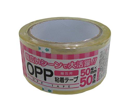 【まとめ買い50巻】梱包用OPP粘着テープ50mm×50m (50)