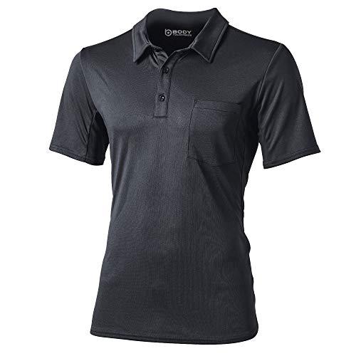 おたふく手袋 ボディータフネス 吸汗 速乾 デュアルメッシュ ポロシャツ ショートスリーブ グレー LLサイズ JW-603