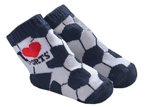DinDonオリジナル ベビー靴下 TF ベビーサッカー 0-12ヶ月 ホワイト #5508