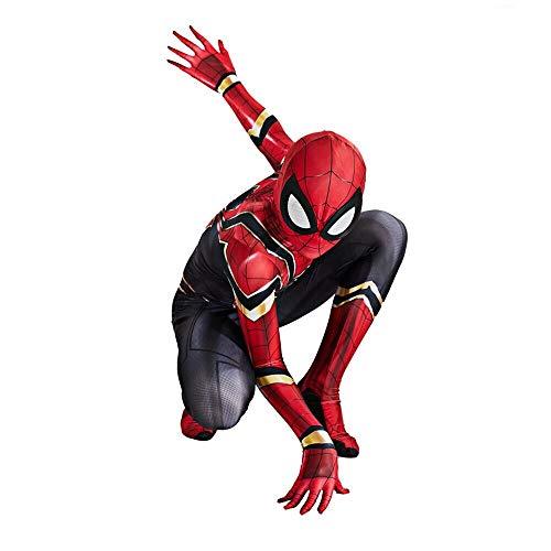 S&C Live アイアン・スパイダーアーマースーツコスプレ 分離式 男の子向き ボーイズ リアル 3D立体プリント 戦っている感 かっこいい マッチョ アイアン・スパイダーアーマー アイアン・スパイダースーツ スパイダーマンコスプレ スパイダーマンコスチューム スパイダーマン仮装 スパイダーマン全身タイツ スパイダーマン着ぐるみ衣装 スパイダーマン筋肉服 キッズ 子供 スパイダーマン戦闘服 脱がなくてもオシッコできる便利なデザイン スパイダーマン:ファー・フロム・ホーム ピーター・パーカー / スパイダーマンコス#190166 (キッズ, XL(対象身長130-140cm))