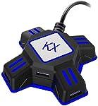 Kiowon ゲームコンバーター キーボード・マウス接続アダプター KXゲーミングコントローラー変換 Nintendo Switch/PS4/PS3/Xbox One/対応