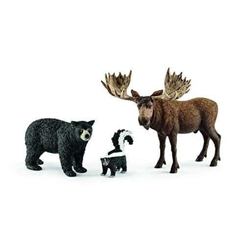シュライヒ ワイルドライフ 北米の森に住む動物 フィギュア 41456