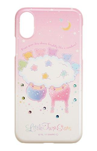 サンクレスト iDress iPhoneX 5.8インチ対応 ジュエリーカバー サンリオキャラクター リトルツインスターズ レインボー ベア iP8-SA04T