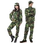 【 帽子付き 】monoii 迷彩服 アーミー 軍人 コスプレ 迷彩 ハロウィン 衣装 迷彩柄 メンズ レディース コスチューム 長袖 ズボン 363
