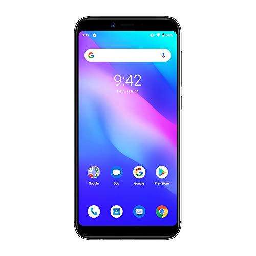 UMIDIGI A3 Updated Edition SIMフリースマートフォン Android 9.0 2 + 1カードスロット 5.5インチ アスペクト比19:9 12MP+5MPデュアルリアカメラ 8MPフロントカメラ グローバルLTEバンド対応 2GB RAM + 16GB ROM(256GBまでサポートする) 顔認証 指紋認証 技適認証済み au不可 一年メンテナンス保証 (グレー)