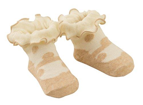 DinDonオリジナル ベビー靴下 TF オーガニック ドット 0-12ヶ月 #5516