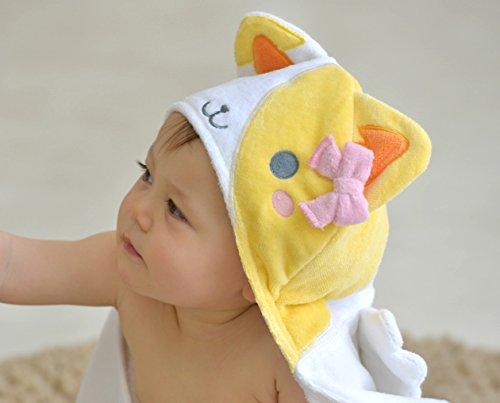 DinDonオリジナル DA フードバスタオル キティ 0-24ヶ月 白 #5903