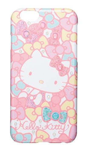 サンクレスト iDress iPhone6 4.7inch対応 ジュエリーカバー ハローキティ ミルキーリボン iP6-KT08