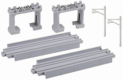 プラレール 高架直線レール(2本入・ブロック橋脚(グレー)2個付) R-26
