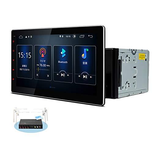 (TSD100SIL)XTRONS 最新 10インチ 2DIN Android アップグレード版 静電式車載PC 地デジ搭載 フルセグ 高画質 カーナビ マルチタッチスクリーン カーステレオ カーオーディオ4G WIFI GPS ミラーリング OBD2 DVR Bluetooth