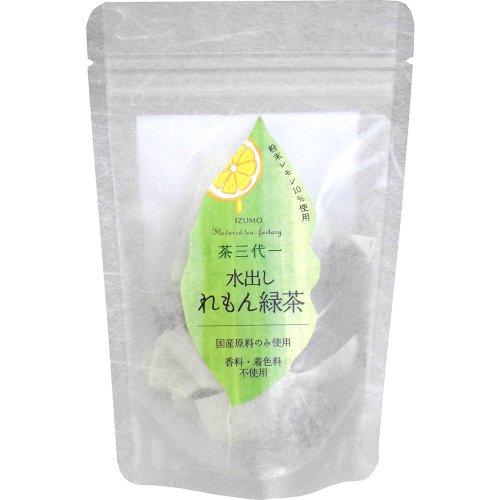茶三代一 水出しれもん緑茶ティーバッグ 5gx6p