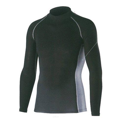 おたふく手袋 ボディータフネス 冷感・消臭 パワーストレッチ 長袖ハイネックシャツ JW-625 ブラック LL