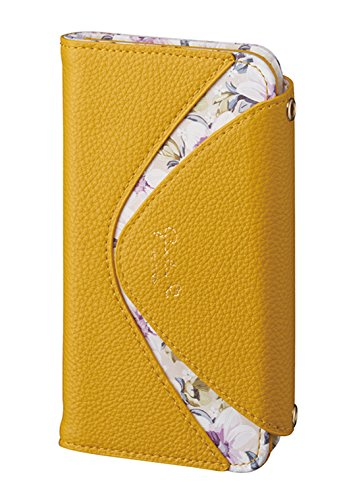 サンクレスト Girlsi iPhoneX 5.8インチ対応 手帳型 ダイアリーカバー デルタシリーズ マスタード iP8-GI06