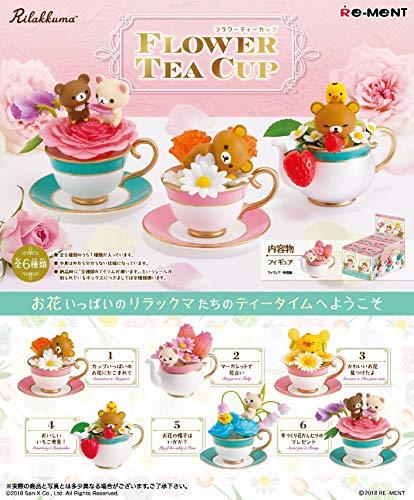 リラックマ Flower Tea Cup BOX商品 1BOX=6個入り、全6種類