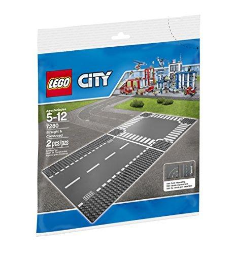 レゴ LEGO シティ ロードプレート 直線+交差点 2枚入り 7280