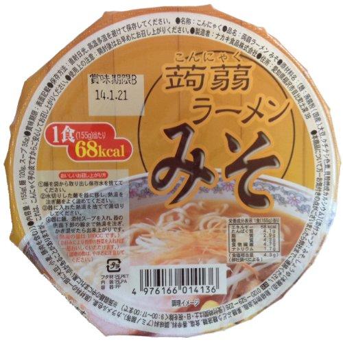 ナカキ食品 こんにゃくラーメン みそ155g×12食