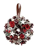 丸和貿易  クリスマス リース シャインパールローズ  (S)  壁掛け  玄関飾り    4008740-01