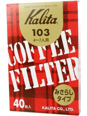 Brown entered 40 pieces of Kalita coffee filter 103 filter paper (Japan Import) [並行輸入品]
