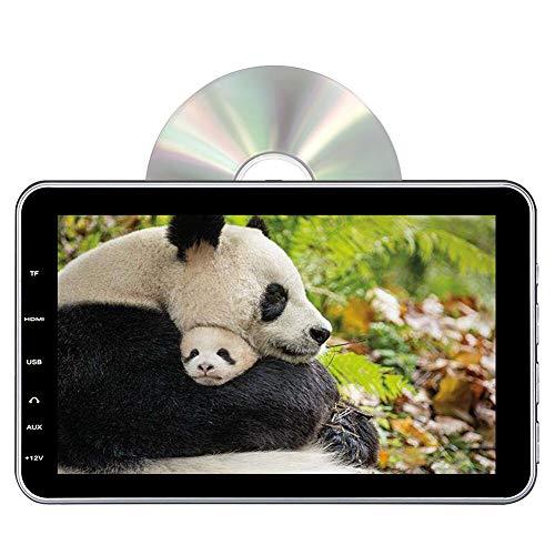DDAUTO ヘッドレストモニター dvd スロットイン式 10.1インチ HDMI入力 スマートフォン接続 1080Pビデオ再生 dvdプレーヤー 車載12V/24V対応 リージョンフリー レジューム機能 CPRM/USB/SD/AV-IN/AV-OUT スピーカー内蔵 18ヶ月保障