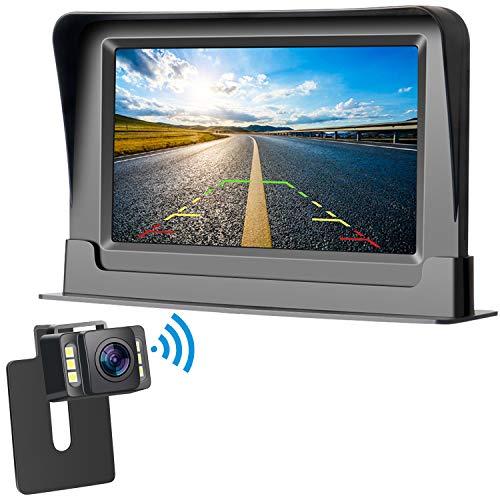 【Vanfare 】バックカメラモニターセット ワイヤレス 4.3インチLCDモニター IP68 防塵防水 12V 正像/鏡像切替可能 ガイドライン表示あり 2年間保証