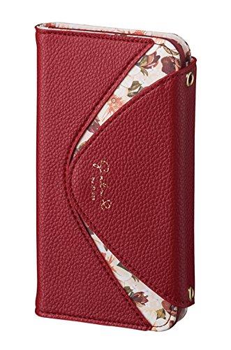 サンクレスト Girlsi iPhoneX 5.8インチ対応 手帳型 ダイアリーカバー デルタシリーズ バーガンディ iP8-GI07