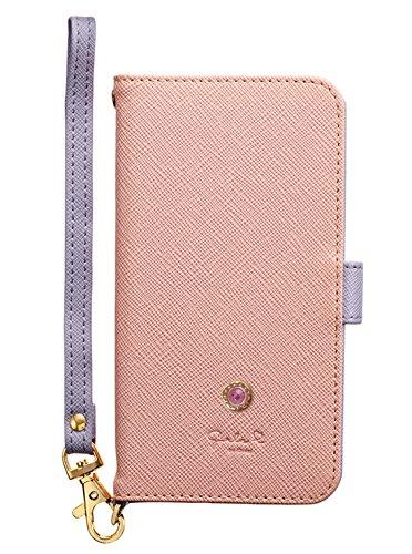 サンクレスト Girlsi iPhoneX 5.8インチ対応 手帳型 ダイアリーカバー バイカラー ビジュースタッズピンク iP8-GI02