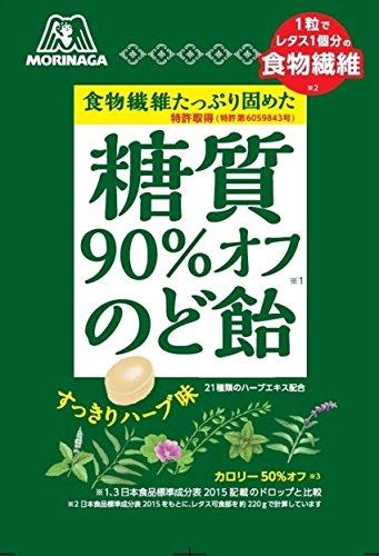 森永製菓 糖質90%オフのど飴 64g 1袋