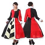 monoii ハートの女王 コスプレ ドレス 衣装 仮装 アリス 女王 コスチューム コス 大人 Sサイズ