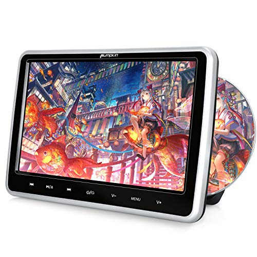 PUMPKIN ヘッドレストモニター dvd スロットイン式 10.1インチ dvdプレーヤー 車載 リージョンフリー レジューム機能 AUX CPRM対応 USB/SD/AV-IN/AV-OUT 18ヶ月保障