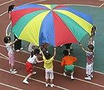 HMT パラバルーン プレイパラシュート 幼稚園 保育園 の 運動会 に 親子で参加で楽しさ倍増!カラフル 5M 4色 収納バッグ付